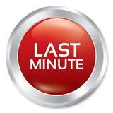 Botón de última hora. Etiqueta engomada redonda roja de la venta. Foto de archivo libre de regalías