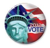Botón de 2012 votos Foto de archivo