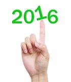 Botón de 2016 Fotos de archivo libres de regalías