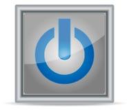 Botón de acero de la potencia Fotos de archivo