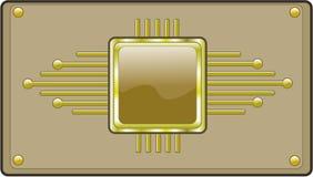 Botón de alta tecnología Fotografía de archivo