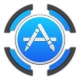 Botón de Apple Store ilustración del vector