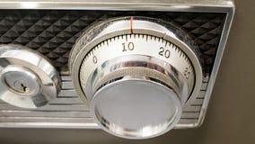 Botón de cerradura seguro de plata o dial seguro Concepto de la seguridad foto de archivo libre de regalías