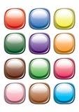 Botón de colores. Vector. Fotos de archivo