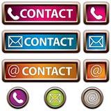 Botón de contacto Fotografía de archivo libre de regalías