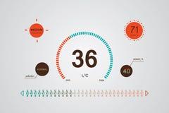 Botón de control plano usado para regular. Vector Illus de Infographics Imágenes de archivo libres de regalías