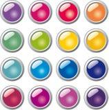 Botón de cristal de la esfera Fotografía de archivo libre de regalías