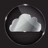 Botón de cristal del vector con el icono de la nube libre illustration