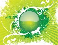 Botón de cristal redondo libre illustration