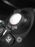 Botón de desbloquear de obturador de cámara Fotografía de archivo libre de regalías