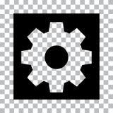 Botón de determinación negro en fondo transparente Vector ilustración del vector