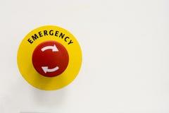 Botón de Emergeny Imagen de archivo libre de regalías