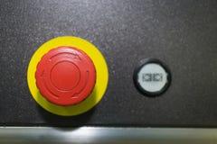 Botón de Emergeny para la máquina industrial foto de archivo libre de regalías
