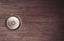 Botón de encendido Foto de archivo libre de regalías