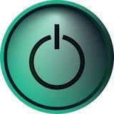 Botón de encendido fotografía de archivo