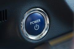 Botón de encendido de un coche Imagen de archivo libre de regalías