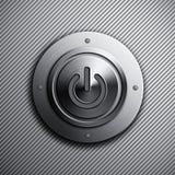 Botón de encendido del metal Fotos de archivo libres de regalías