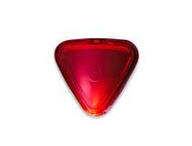 Botón de encendido rojo, triángulo Imagenes de archivo
