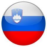 Botón de Eslovenia ilustración del vector
