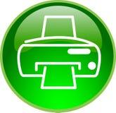 Botón de impresión verde Imagen de archivo libre de regalías