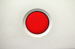 Botón de interruptor rojo Foto de archivo libre de regalías