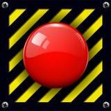 Botón de la alarma ilustración del vector