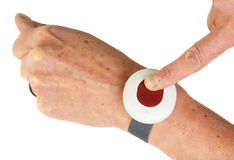 Botón de la alarma Foto de archivo libre de regalías