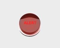 Botón de la alarma roja Fotos de archivo