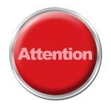 Botón de la atención Foto de archivo