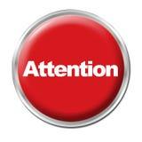 Botón de la atención Imagen de archivo libre de regalías