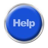 Botón de la ayuda Imagenes de archivo
