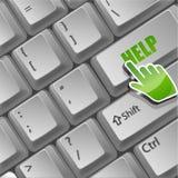 Botón de la ayuda en el teclado ilustración del vector