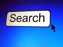 Botón de la búsqueda Foto de archivo