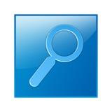 Botón de la búsqueda, botón del Web de la búsqueda Fotografía de archivo