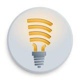 Botón de la bombilla Imagen de archivo libre de regalías