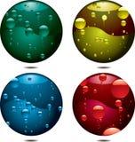 Botón de la burbuja stock de ilustración