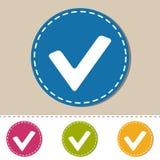 Botón de la caja de control - control Mark Sign - iconos coloridos del vector - aislados en fondo monótono Imagen de archivo libre de regalías