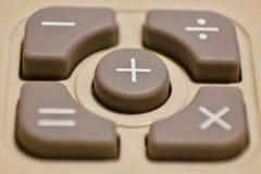 Botón de la calculadora Fotografía de archivo libre de regalías