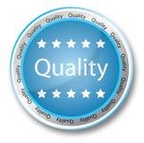 Botón de la calidad libre illustration