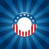 Botón de la campaña electoral de  Fotos de archivo libres de regalías