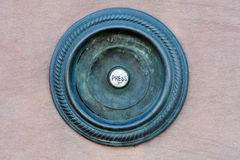 Botón de la campana de puerta Imágenes de archivo libres de regalías