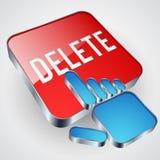 Botón de la cancelación Fotos de archivo