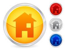 Botón de la casa ilustración del vector