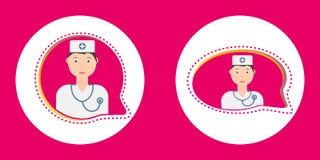 Botón de la consulta médica del vector stock de ilustración
