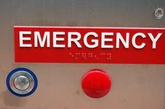 Botón de la emergencia Foto de archivo