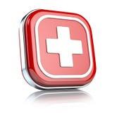 Botón de la emergencia stock de ilustración