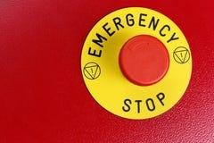 Botón de la emergencia Imagen de archivo