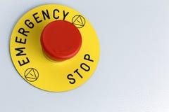 Botón de la emergencia Fotos de archivo