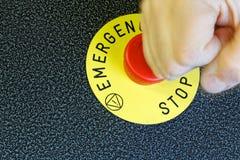Botón de la emergencia Fotografía de archivo libre de regalías