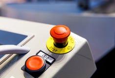 Botón de la emergencia Fotografía de archivo